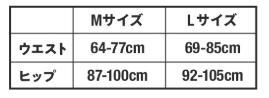 ギュギュレギンスのサイズ表