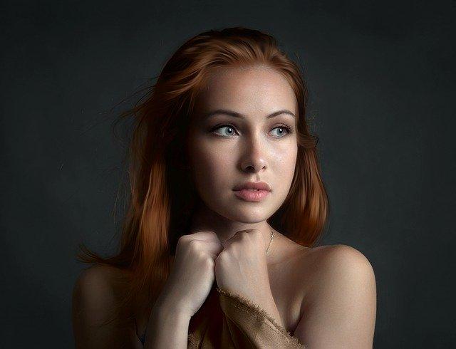 きれいな肌で美しい女性